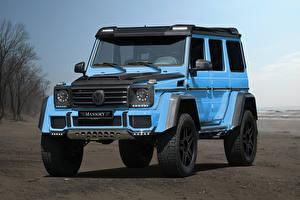 Фото Mercedes-Benz G-класс Голубой Mansory, W463