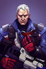 Фотография Overwatch Воители Автоматы Jack Morrison, Soldier 76 Игры Фэнтези