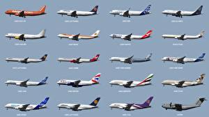 Обои Самолеты Пассажирские Самолеты A320 A330 A340 A350 A380