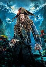 Фотографии Мужчины Пираты Карибского моря: Мертвецы не рассказывают сказки Джеффри Раш Пираты Знаменитости