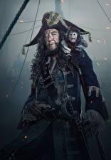 Фото Мужчины Пираты Карибского моря: Мертвецы не рассказывают сказки Джеффри Раш Пираты Шляпа Знаменитости
