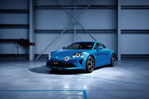Картинки Renault Металлик Синий 2017 Alpine A110  Premiere Edition Автомобили