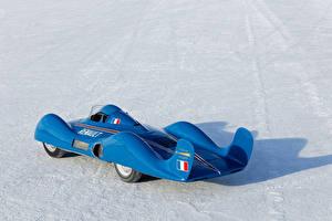 Обои Рено Старинные Металлик Синяя 1956 Etoile Filante Автомобили Спорт