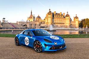 Фотография Renault Стайлинг Металлик Синий 2015 Alpine Celebration Concept машины
