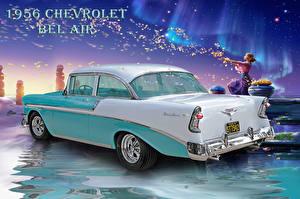 Обои Ретро Chevrolet KAGAYA 1956 Машины