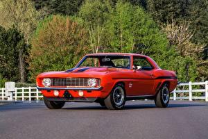 Фото Ретро Шевроле Красный SC 427 Camaro Yenko 1969 COPO Авто