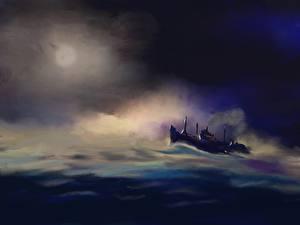 Картинка Корабль Рисованные