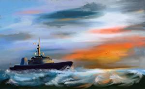 Фотографии Корабли Рисованные HMCS Brandon (MM 710)