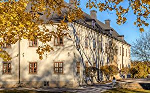 Фотография Швеция Замки Осенние Tidö Castle Города