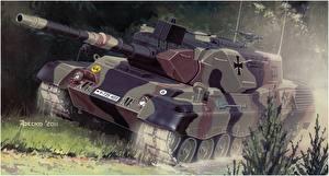 Картинки Танки Рисованные Немецкий Leopard 1A4