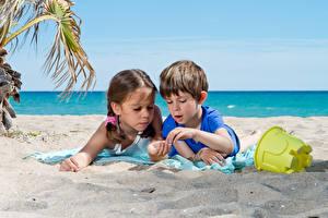 Фотография 2 Пляж Песок Мальчики Девочки Дети