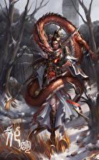 Обои Воители Драконы Mu Lan Фэнтези Девушки