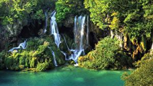 Фотография Водопады Мох Скала
