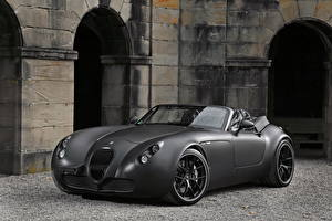 Обои Wiesmann Серый Кабриолет Родстер 2011 Roadster MF5 Black Bat