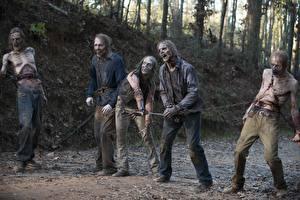 Картинки Зомби Ходячие мертвецы Цепь Season 6 Фильмы