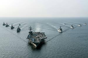 Фотография Авианосец Корабли Американские USS Ronald Reagan (CVN 76) Армия