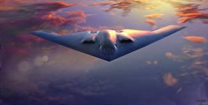 Фото Самолеты Бомбардировщик Американские Spirit B-2A Авиация