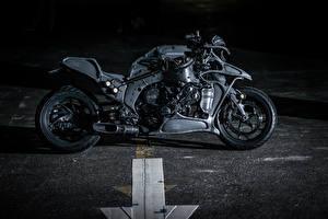 Обои BMW - Мотоциклы Сбоку Черный 2015 Juggernaut by Hot-Dock Custom