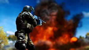 Картинка Battlefield 4 Солдаты Пулеметы Игры