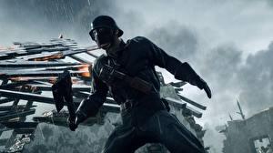 Картинка Солдаты Маски Военная каска Battlefield 1