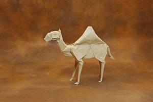 Обои Верблюды Бумага Оригами Животные