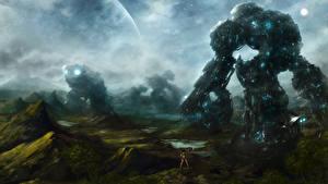 Картинка Фантастический мир Робот