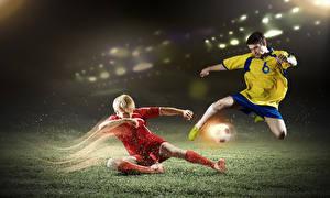Фото Футбол Мужчины Мяч Униформа Ноги Спорт