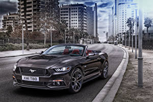 Фото Форд Серый Кабриолет Улица Mustang Машины