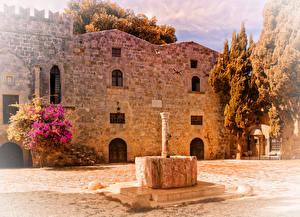 Фотографии Греция Дома Rhodes Города
