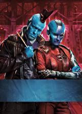 Картинки Стражи Галактики. Часть 2 Двое Инопланетяне Yondu, Nebula Кино Знаменитости