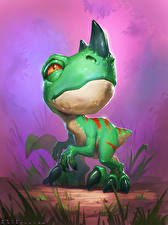 Обои Hearthstone: Heroes of Warcraft Динозавры Детеныши Ravasaur Runt Игры
