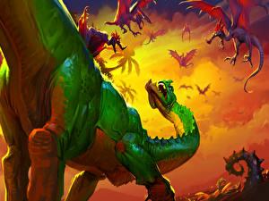 Фото Hearthstone: Heroes of Warcraft Динозавры Feeding Time Игры