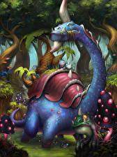 Фото Hearthstone: Heroes of Warcraft Динозавры Gentle Megasaur Игры