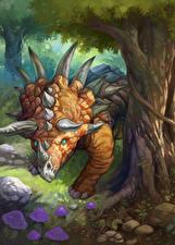 Фото Hearthstone: Heroes of Warcraft Динозавры Ornery Direhorn Игры