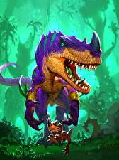 Картинка Hearthstone: Heroes of Warcraft Динозавры Raptor Matriarch Игры