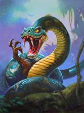Фотография Hearthstone: Heroes of Warcraft Змеи Клыки Злость Giant Anaconda Игры