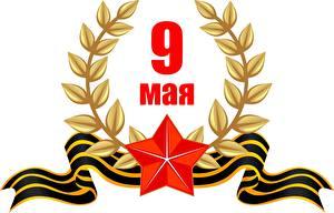 Фотография Праздники 9 мая Векторная графика Российские