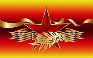 Обои Праздники День Победы Векторная графика Звездочки