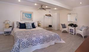 Обои Интерьер Дизайн Спальня Кровать Подушки Кресло Потолок