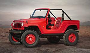 Обои Jeep Красные Металлик 2016 Shortcut Concept автомобиль