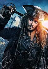 Фото Джонни Депп Пираты Мужчины Пираты Карибского моря: Мертвецы не рассказывают сказки Шляпа Кино Знаменитости