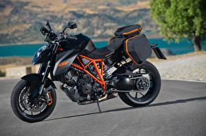 Обои KTM Мотоциклы Крупным планом Черный 2014-16 1290 Super Duke R Мотоциклы