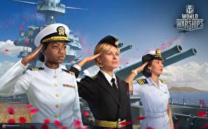 Картинки 8 марта Солдаты World Of Warship Негр Трое 3 Игры Девушки Армия