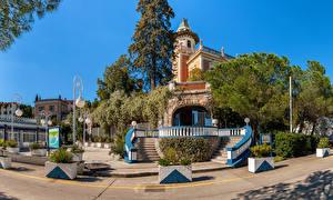 Обои Опатия город Хорватия Вилла Лестница Дизайн Уличные фонари Villa Emma Города