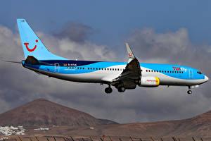 Фотографии Самолеты Пассажирские Самолеты Боинг Летящий 737-8K5