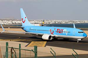 Обои Самолеты Пассажирские Самолеты Боинг Голубой Boeing 737-8K5 Авиация