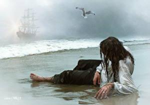 Фото Пираты Берег Мужчины Фантастика