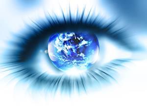 Картинка Планета Ресницы Глаза