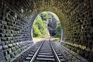 Фото Железные дороги Туннель Каменные