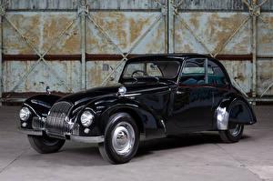 Фотография Старинные Черный Металлик 1948 Allard M-Type Coupe Автомобили